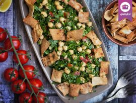 Chickpea tabbouleh salad