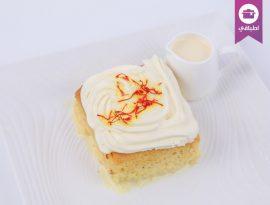 Milk Cake Saffron